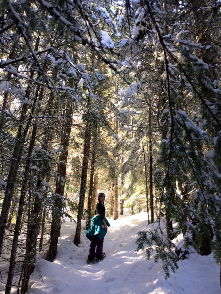 Snowshoeing the Rainbow Trail in BC