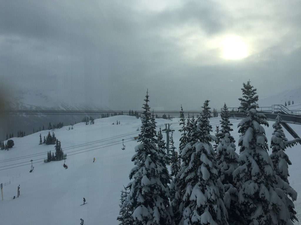 The view from Whistler while skiing